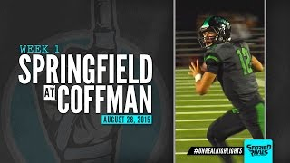 HS Football | Springfield at Dublin Coffman [8/28/15]