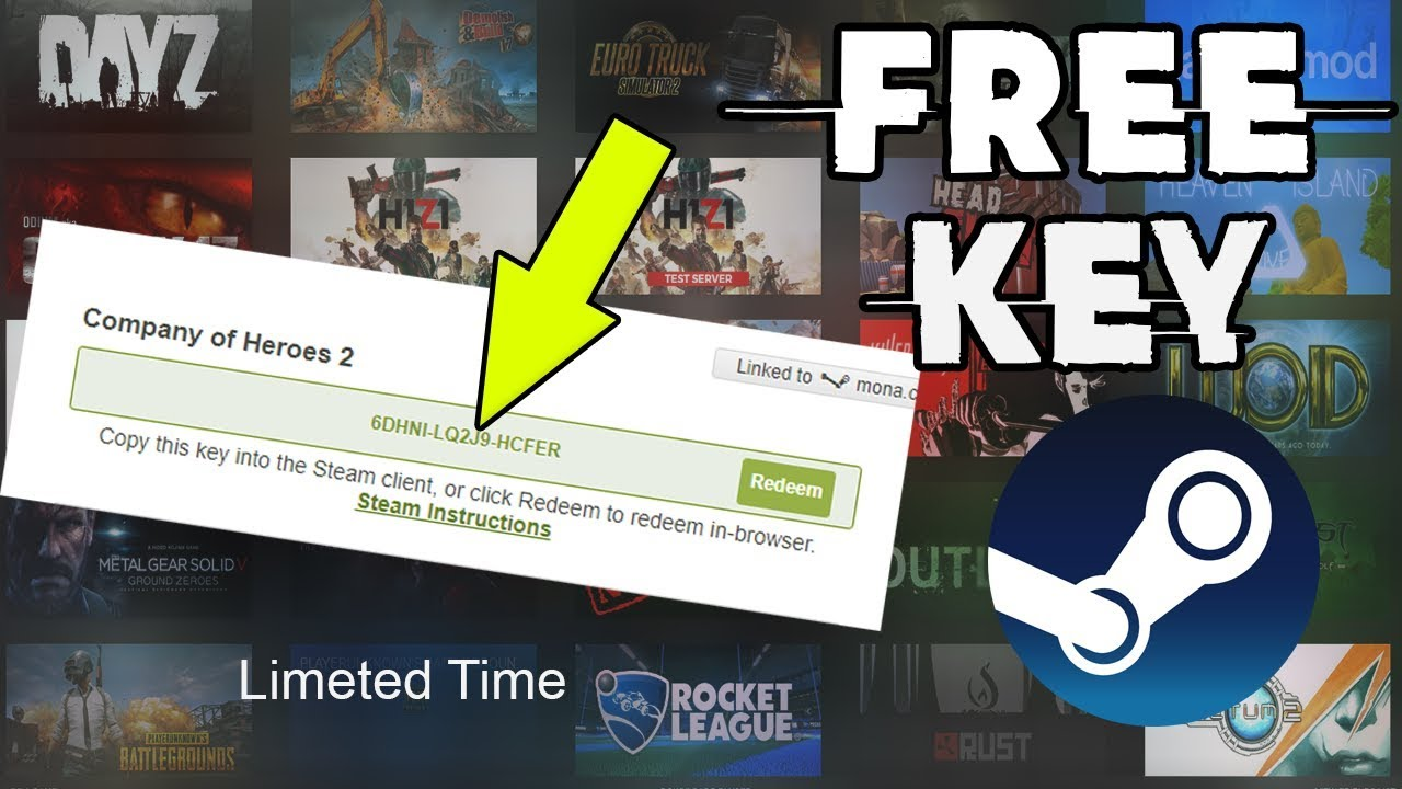 How to Get free Key Game price 20$ in Steam