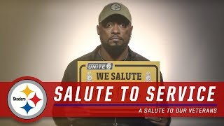 A Salute to Service on Veterans Day | Pittsburgh Steelers