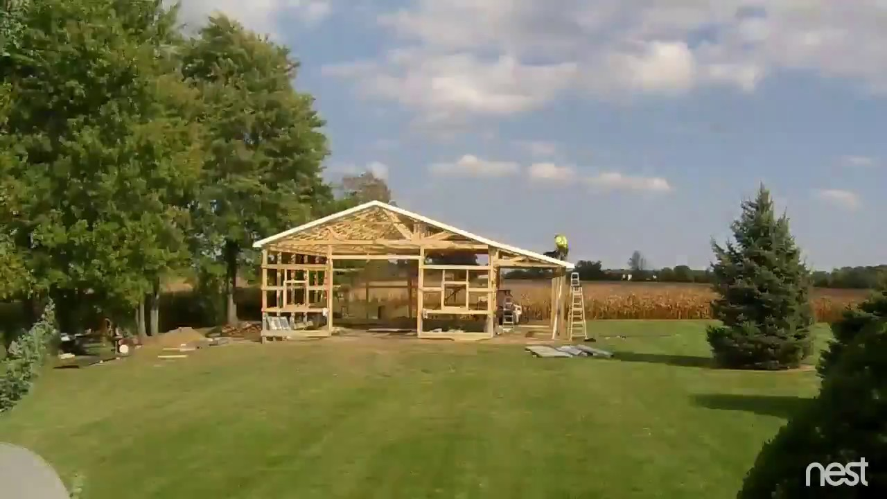 Pole Barn Start To Finish 32x40x12 Time Lapse Youtube