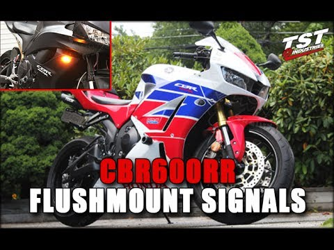 how to: honda cbr 600rr flush mount signals installation by tst industries  - youtube