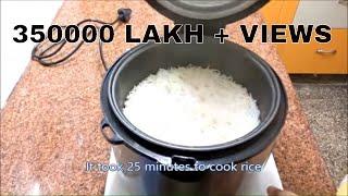 How to cook Rice in Rice Cooker-Reviewराइस कुकर में आसानी से चावल पकाएंرائس ککر میں چاول کیسے بنایں