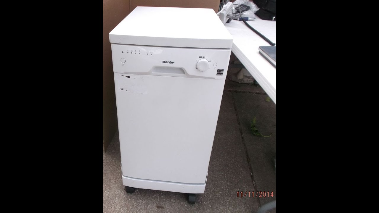 danby mini dishwasher 8 place setting compact portable dorm apartment video youtube - Portable Dishwasher