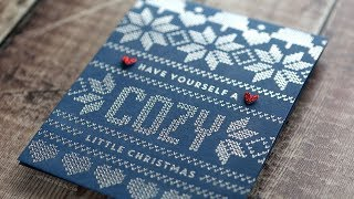 Holiday Card Series 2018 - Day 2 - Heat Embossed Sweater Card