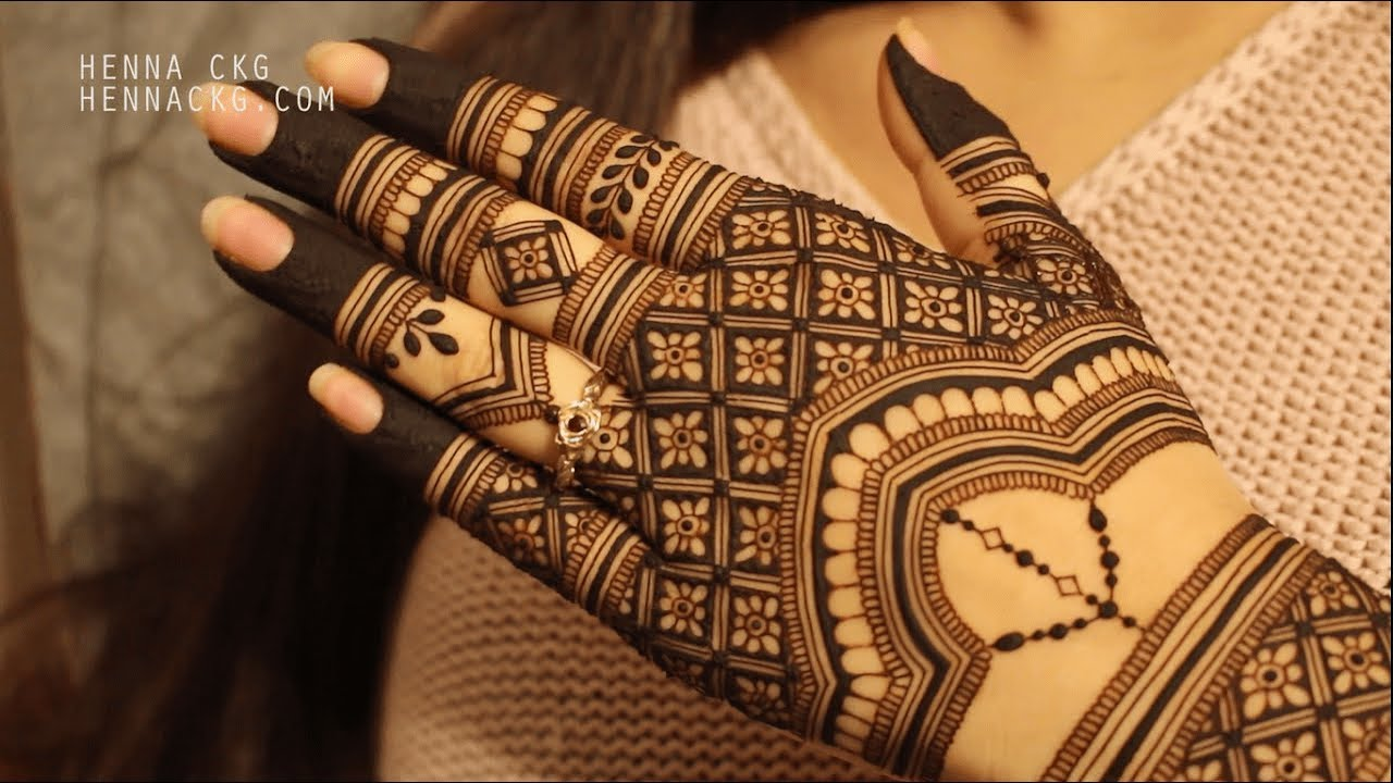 intricate bridal mehndi design by henna ckg   youtube