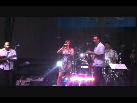 "Cindy Bradley performing ""Feels So Good"" at Caroli..."