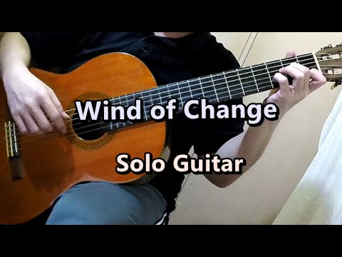 how to play wind of change on guitar