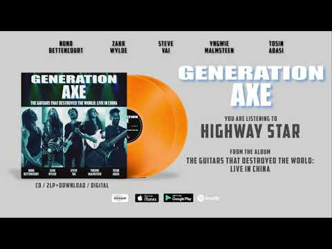 """Generation Axe """"Highway Star"""" (Live In China) Official Song Stream - Album OUT NOW!"""