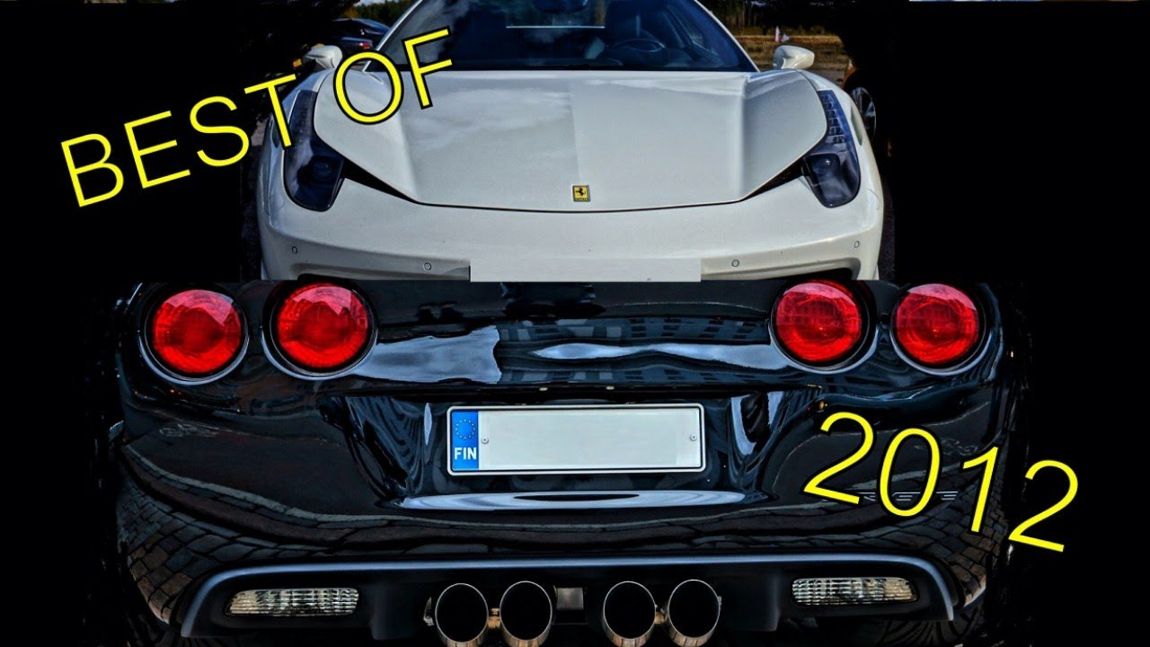 Best Supercar Muscle Car Sounds Of 2012 New Year 2013 Special