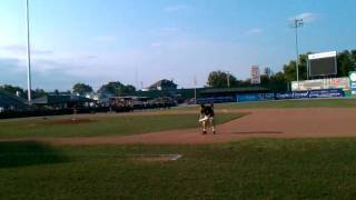 Classic pre game minor league baseball entertainment Hagerstown Suns