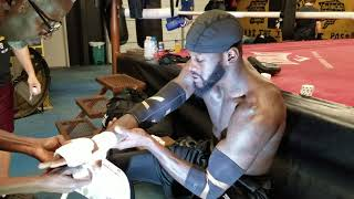 BREAKING NEWS: DEONTAY WILDER SAYS HE LIKES SWIMMING WITH SHARKS ! EXPLAINS THEIR LACK OF DANGER !