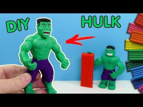 видео: ХАЛК ЛЕПИМ ИЗ ПЛАСТИЛИНА. СУПЕРГЕРОИ МАРВЕЛ | diy hulk from clay