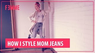 how i style mom jeans femme