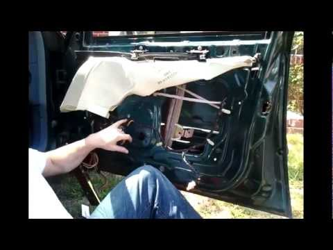 94 Town Car Window Regulator And Motor Youtube