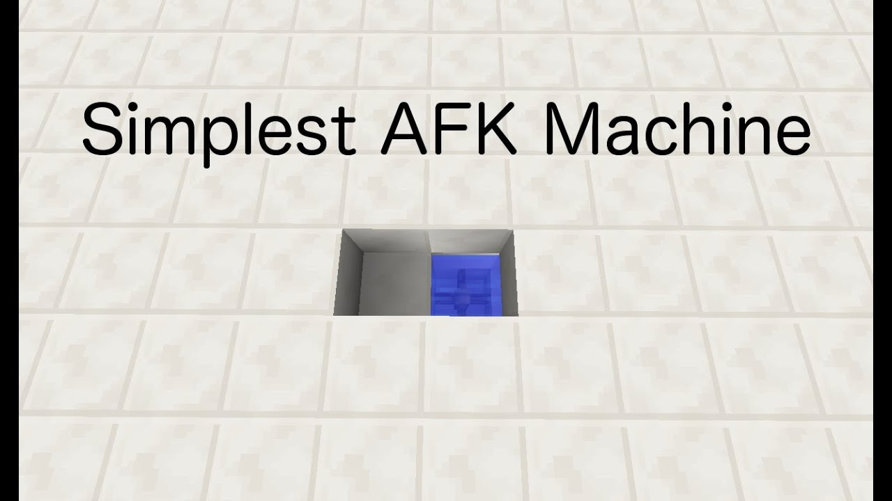 how to make an afk machine