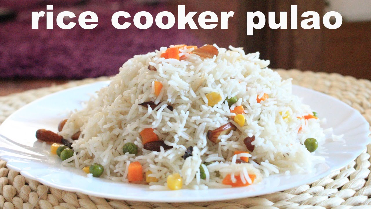 rice cooker pulao recipe / how to make pulao in rice ...