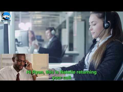 Call center outbound telephone call. Outbound phone call conversation.