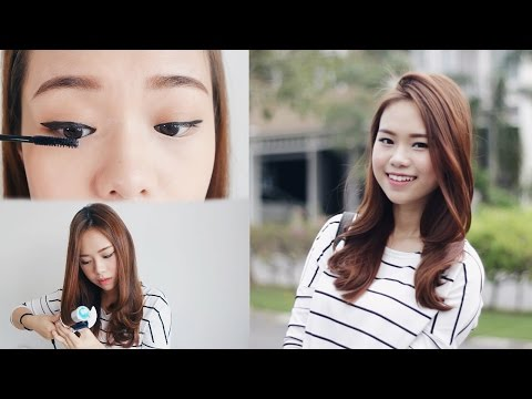 School Campus Beginners Makeup, Hair & Outfit | Molita Lin