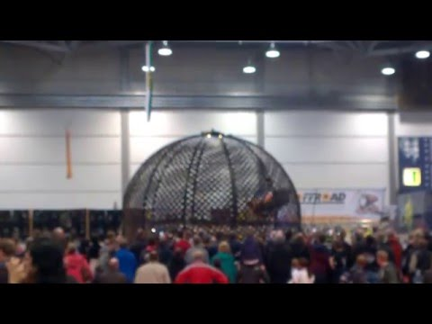 Globe of death with 2 bikes | bikeshow Leipzig