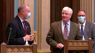 Sen. Shirkey honors Michael Ferland for his 28+ years of service