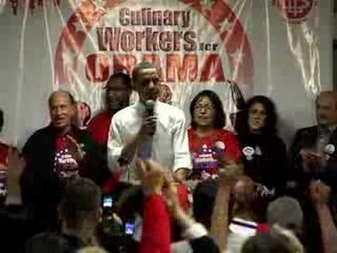 Barack Obama Accepts Culinary Union Endorsement