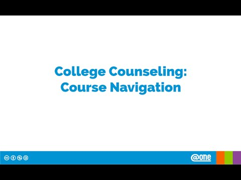College Counseling Course Navigation