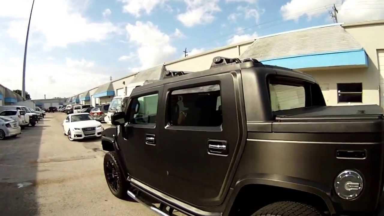 Hummer H2 3m Carbon Fiber Vinyl Car Wrap Miami Florida