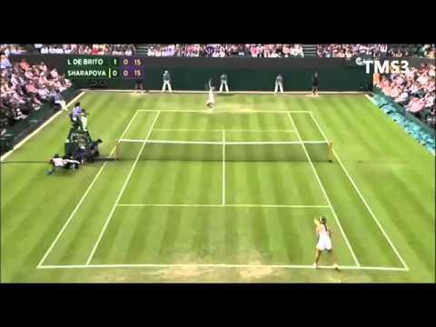 Maria Sharapova vs Michelle Larcher De Brito Wimbledon 2013 Highlights