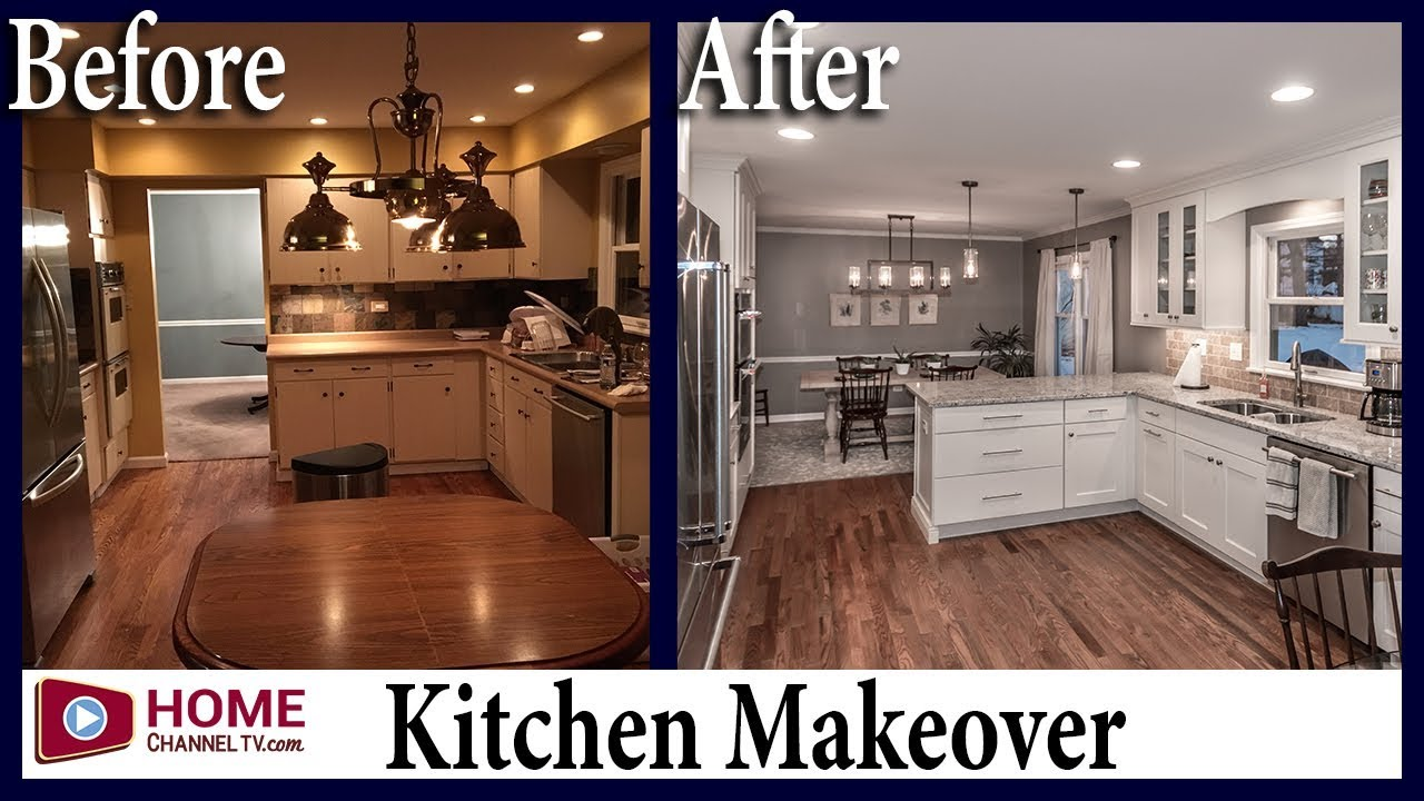 Kitchen Remodel Before After White Kitchen Design Youtube