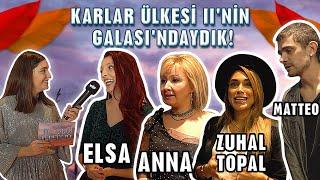 Karlar Ülkesi II'nin Galasındaydık! ❄ - (Elsa Ve Anna'nın Sesiyle Tanıştık) 😍| Disney Channel TR