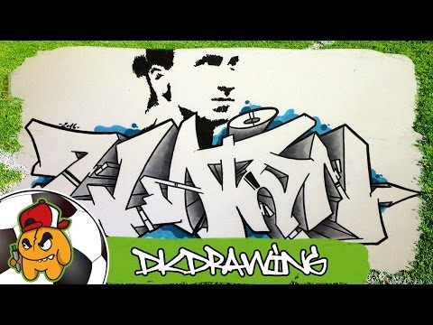 Football Graffiti - Zlatan Ibrahimovic Graffiti Letters Speed Drawing