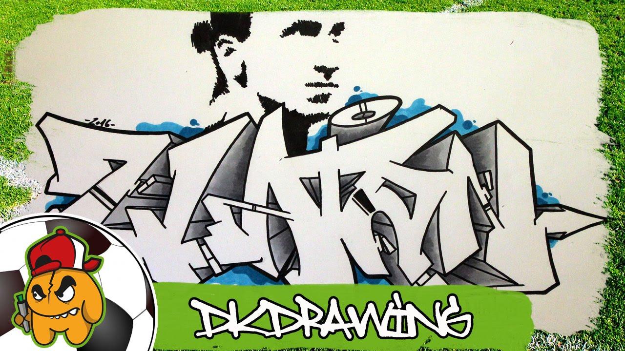 Football Graffiti Zlatan Ibrahimovic Graffiti Letters