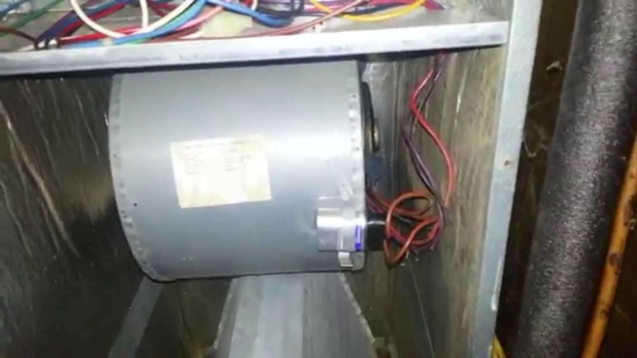 Part 1 8 Replacing Blower Motor On Goodman Aruf036 00a 1a