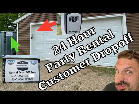 Party Rental Business - Equipment Rental - Self Serving Customer Return - 24hr Drop Off