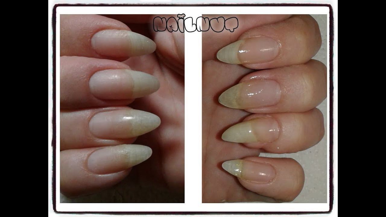 How I File My Almond Nails - YouTube