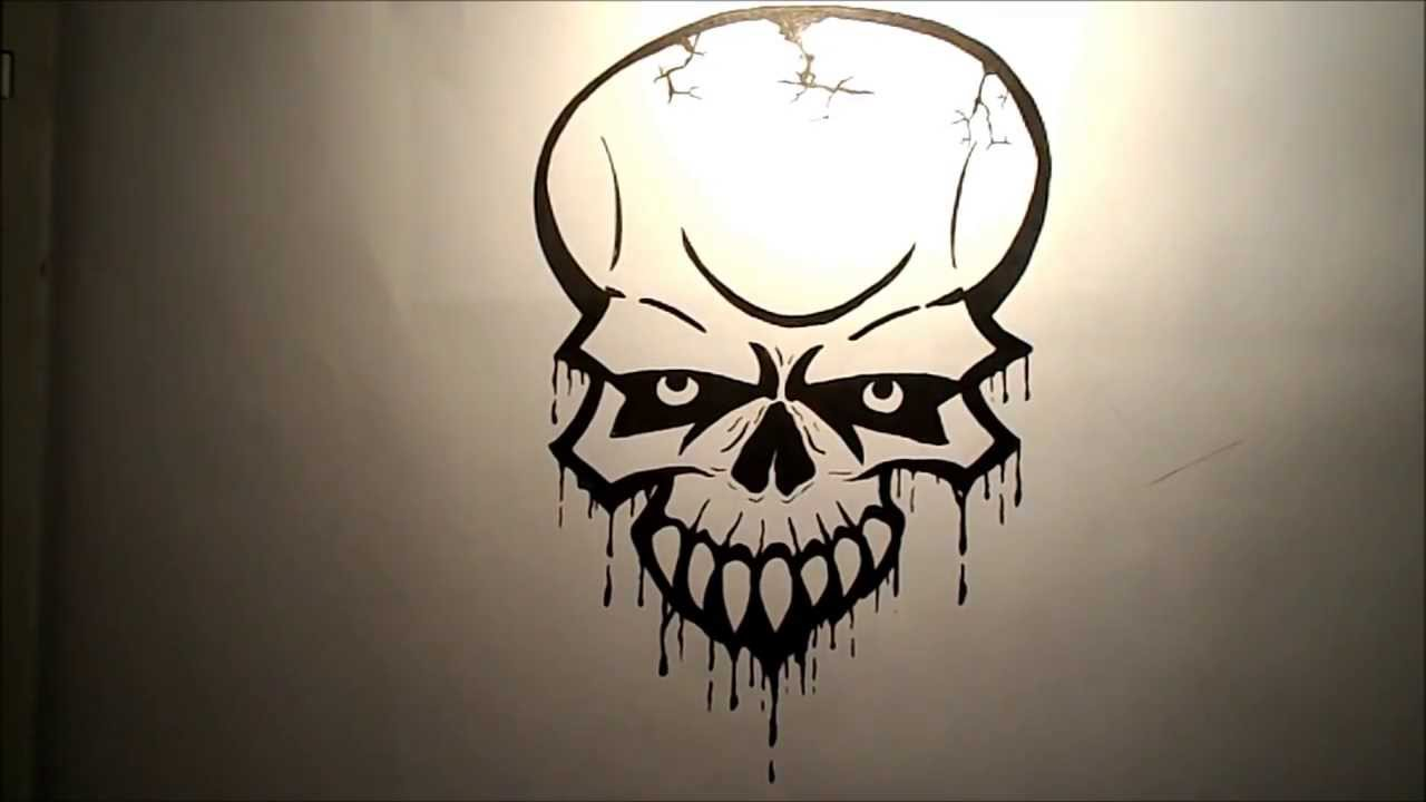 How to draw a Skull (Easy) - YouTube