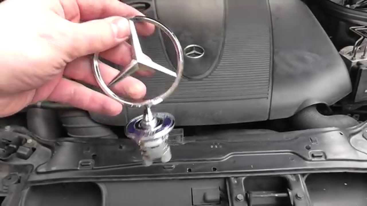 How to install mercedes hood ornament