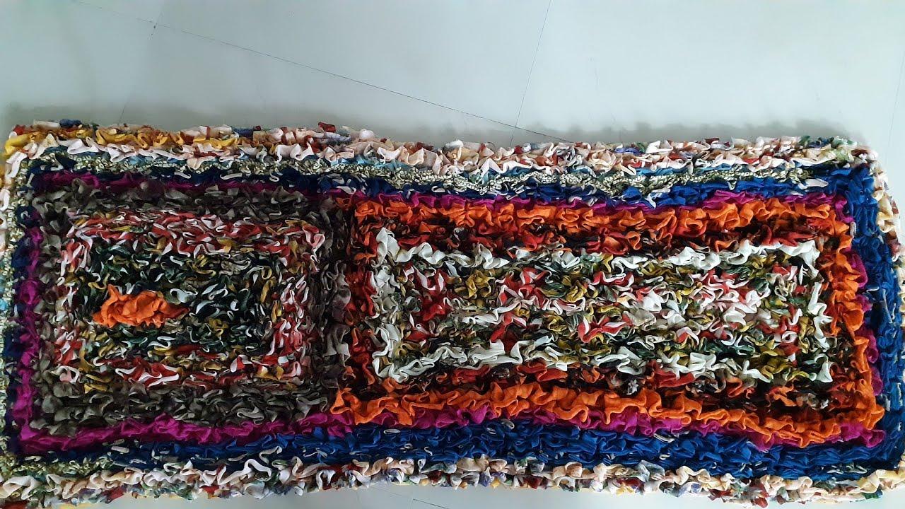 Door mate old saree reuse!! Old saree recycle !! Day waste saree!! Table mate old saree and piece