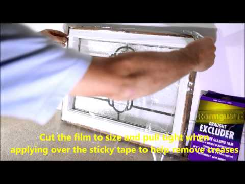 How to fit secondary double glazing film