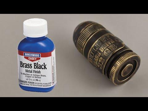 Чернение (патинирование) латуни в домашних условиях средством Brass Black Birchwood Casey