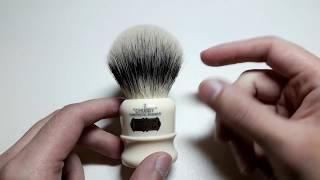Бритье. Обзор помазка для бритья Simpsons Chubby 2 Synthetic badger. Shaving brush review.