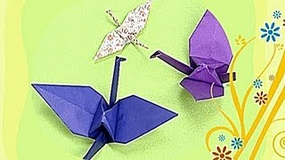 How to make a Paper Crane (Tutorial) - Paper Friends 01 | Origami for Kids