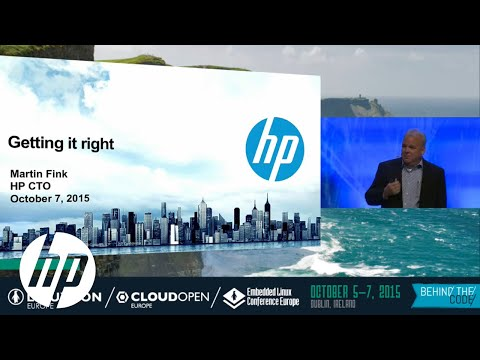 Martin Fink on Open Source Community Collaboration at LinuxCon Europe 2015 | HP