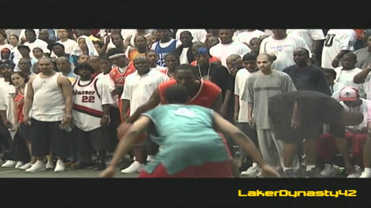 1269cf70b59 Kobe Bryant playing at Rucker Park (2002) - YouTube
