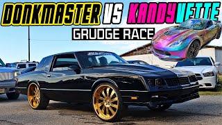 DONKMASTER BLACK BLUR VS SUPERCHARGED CORVETTE Z06 GRUDGE RACE - Ware Shoals Dragway