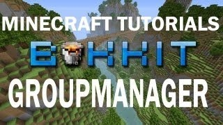 Minecraft | Group Manager Tutorial How To Set Up Ranks Prefixes Perms AND More