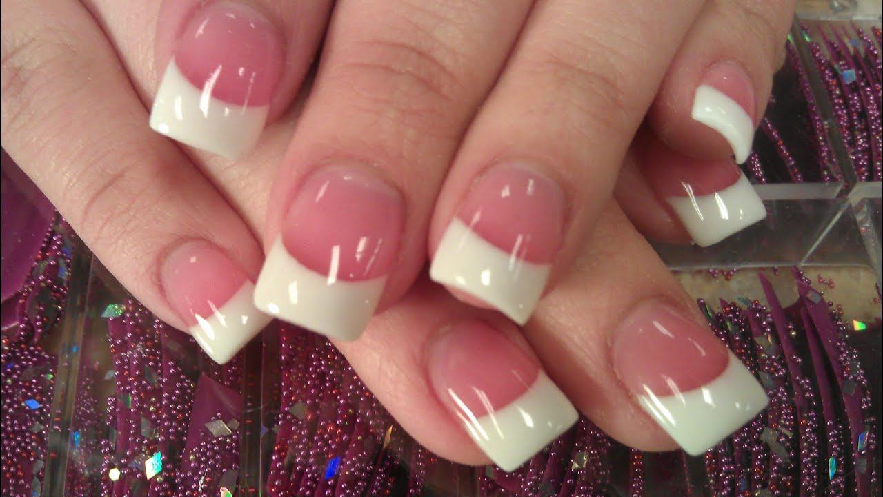 HOW TO PERFECT SOLAR PINK AND WHITE NAILS PART 3 final ...