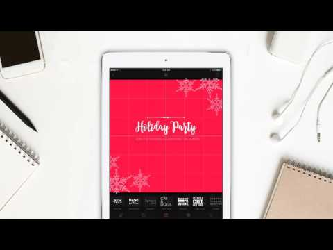 Create an Invitation in 60 seconds - Cameraxis iPhone/iPad free app