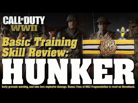 The Best Basic Training Skill In Call Of Duty WW2 - Hunker Basic Training Skill Review (Flak Jacket)