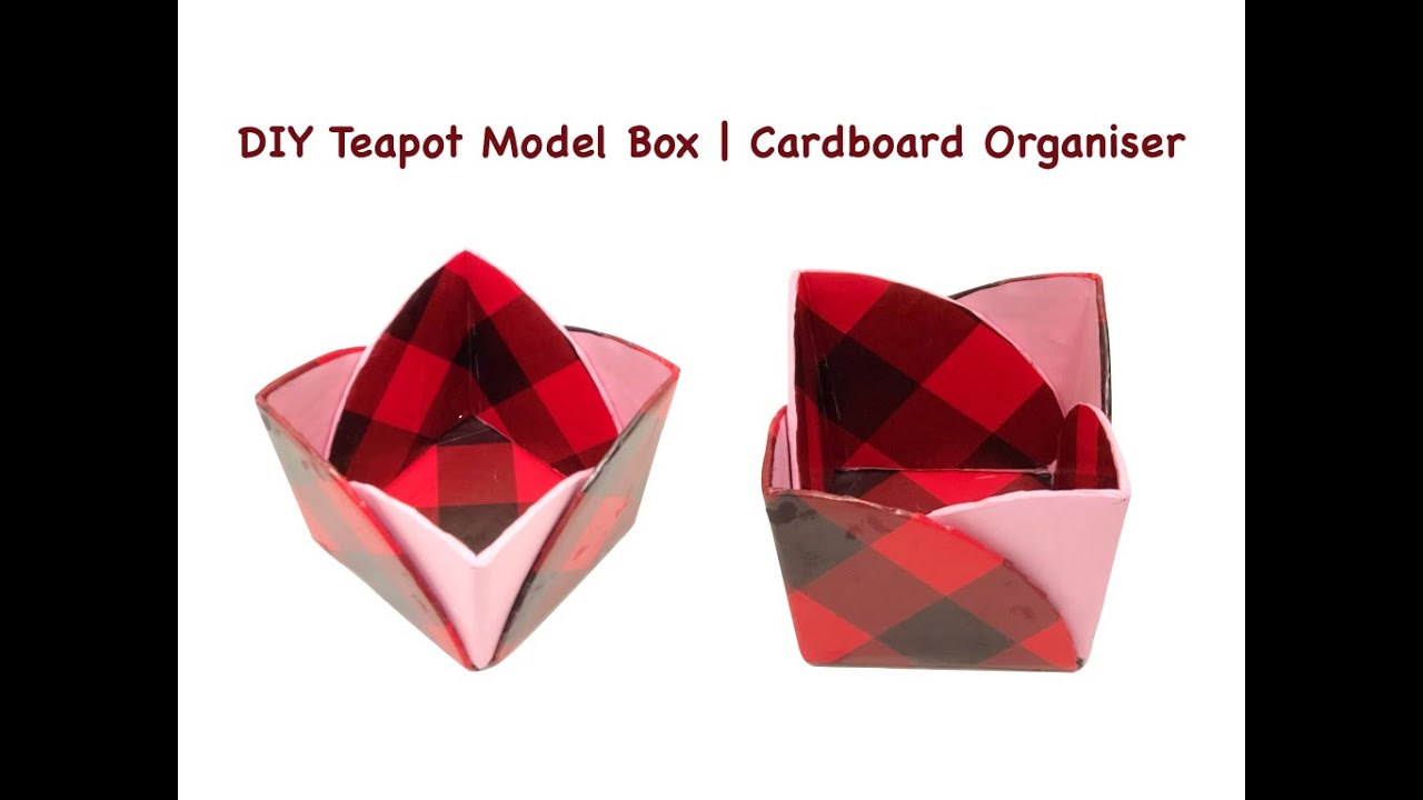 DIY Teapot Cardboard Box | Storage Ideas | Stylish #Cardboard Organiser